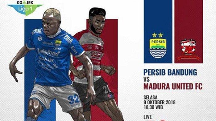 Live Streaming Indosiar Persib vs Madura United - Siaran Langsung Liga 1 Jam 18.30 WIB