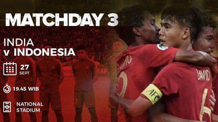 Live Streaming MNCTV - Timnas U 16 Indonesia vs India Piala AFC Malam Ini