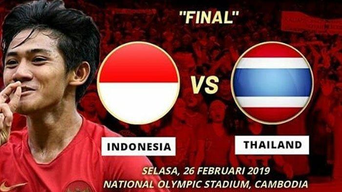 SORE INI Live Streaming RCTI Timnas U-22 Indonesia vs Thailand di Final Piala AFF U-22 2019