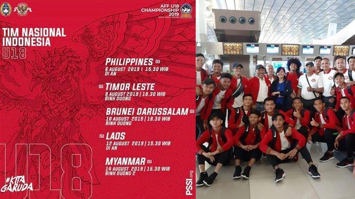 Live Timnas U18 Indonesia vs Filipina Piala AFF 2019, Jadwal Siaran Langsung SCTV Hari Ini