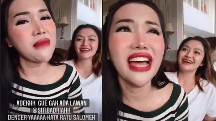 Lucinta Luna bela Siti Badriah ketika disebut sebagai penyanyi dengan suara paling jelek oleh Lesti Kejora.