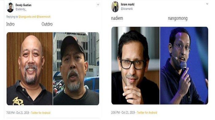 Ini Hasil Otak-atik Nama Nadiem Makarim, Kaesang Pangarep, Anjasmara, Indro Warkop di Twitter, Lucu