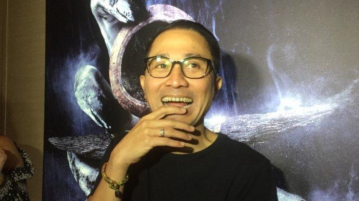 Lukman Sardi ditemui dalam acara peluncuran trailer film Jailangkung di Plaza Senayan, Jakarta, Selasa (30/5/2017).