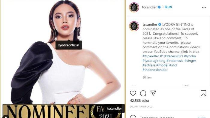 Lyodra masuk nominasi wanita tercantik dunia 2021