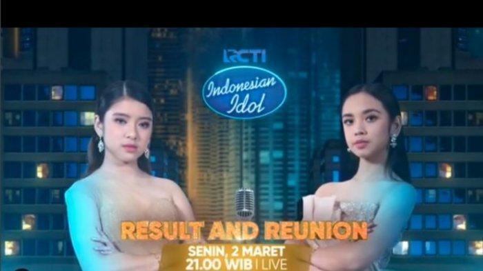 Live Streaming Result & Reunion Indonesian Idol 2020 di RCTI, Siapa Pemenangnya, Lyodra atau Tiara?
