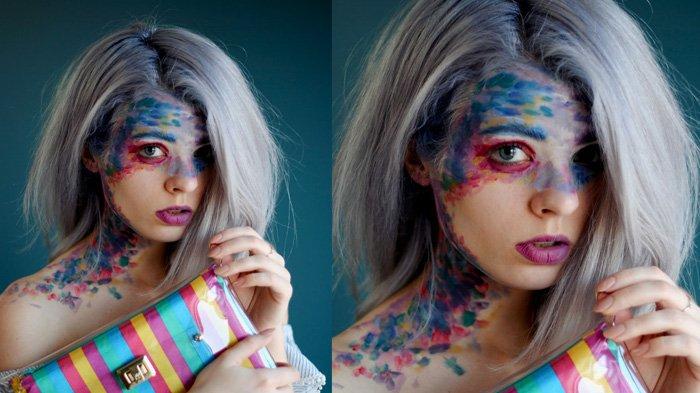 Ilustrasi kreasi face painting