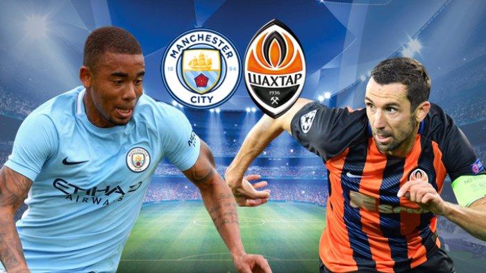 Live Streaming Liga Champions Manchester City vs Shakhtar Donetsk - Langsung Pukul 02.45 WIB di Sini