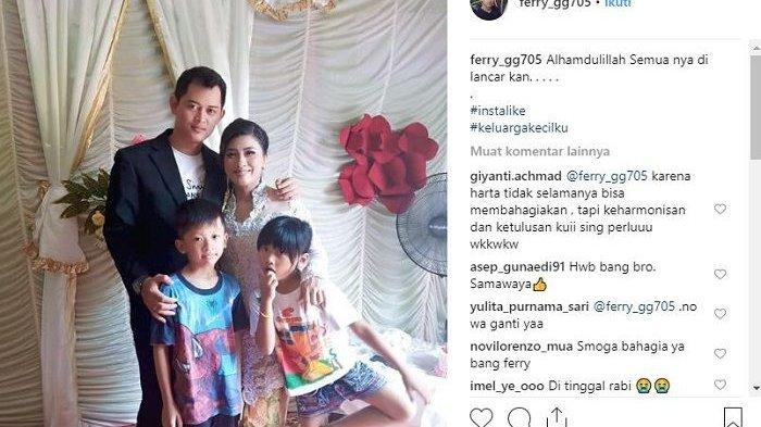Mantan suami Elly Sugigi, Ferry Anggara menikah yang kedua kalinya dengan Sri Wulan Madiyo Wati