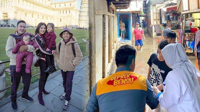 Masih Liburan ke Italia, Ruben Onsu Tak Lupakan Korban Banjir Jakarta dan Bagikan Seribu Makanan