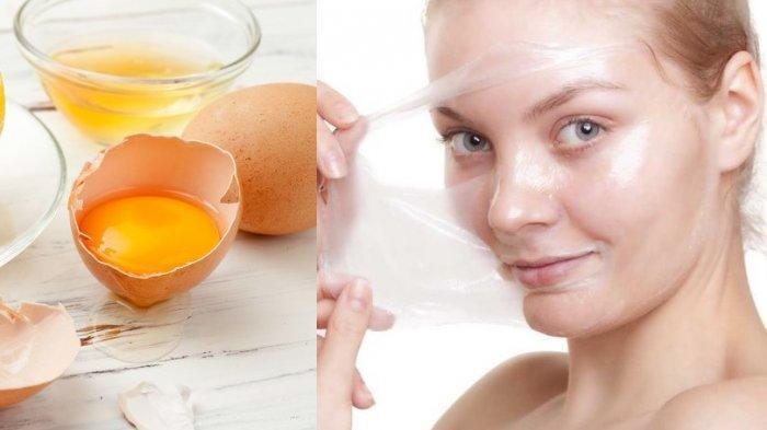 Masker putih telur