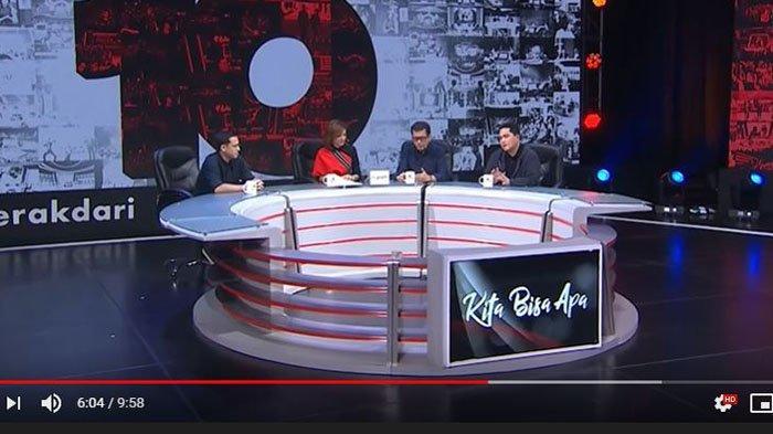 Menteri Erick Thohir Dikagetkan Suara Tawa 'Presiden' Setelah Sebut Jokowi Gila Kerja di Mata Najwa