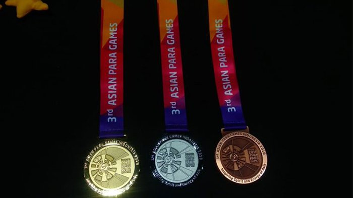 Medali Asian Para Games 2018 resmi diperkenalkan pada Jumat (5/10/2018).