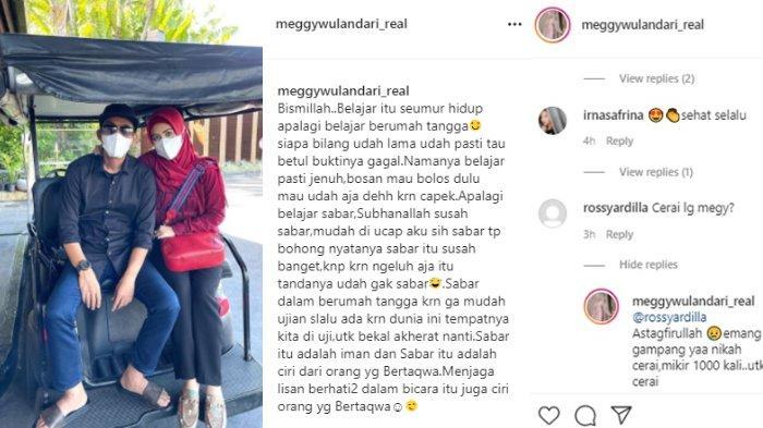 Meggy Wulandari jawab pertanyaan netizen, syok saat ditanya cerai dari Muhammad.