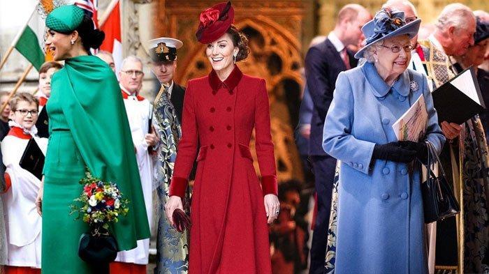 Hadiri Commonwealth Day, Intip Penampilan Meghan Markle, Kate Middleton, dan Ratu Elizabeth