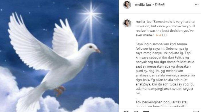 Meilia Lau bagikan kabar terbaru yang singgung sudah move on