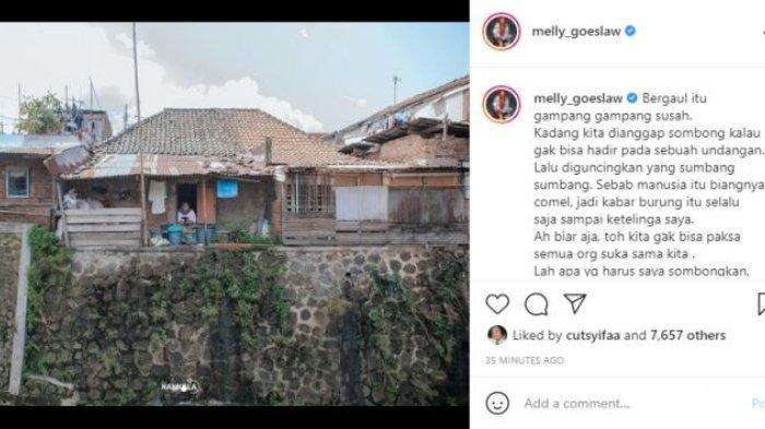 Melly Goeslaw sedih rumah masa kecilnya terancam digusur.