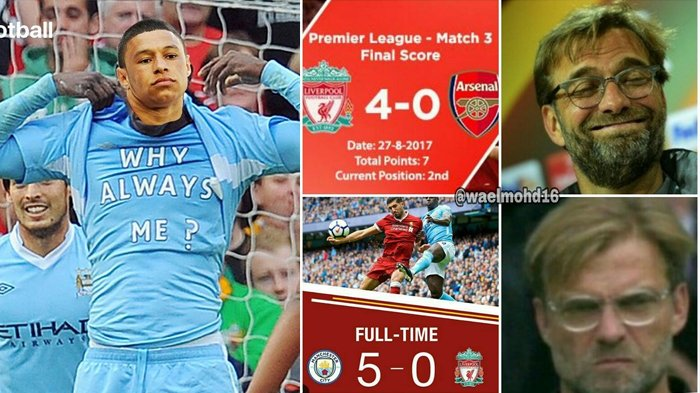 Meme Ini Hiasi Kekalahan Liverpool Dari Manchester City Oxlade Chamberlain Sering Jadi Sasaran