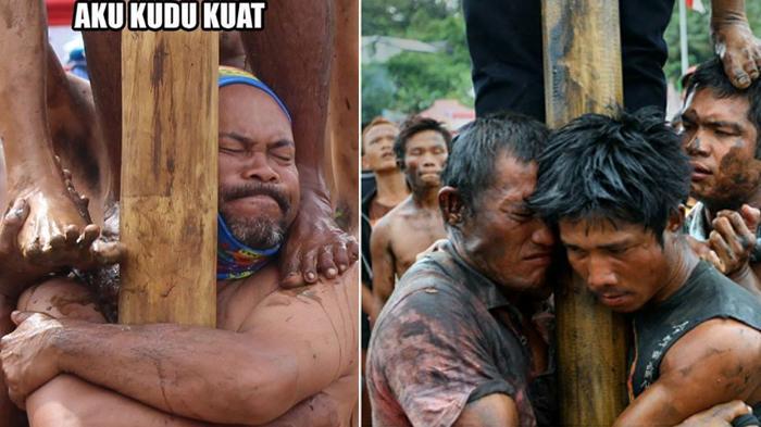 Meme 17 Agustus - Kata-kata dan Ekspresi Panjat Pinang yang Bikin Kamu Ngakak Guling-guling!
