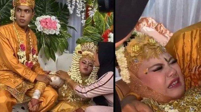 Mempelai wanita diduga kesurupan di tengah acara resepsi pernikahan diduga karena syarat tradisi kurang