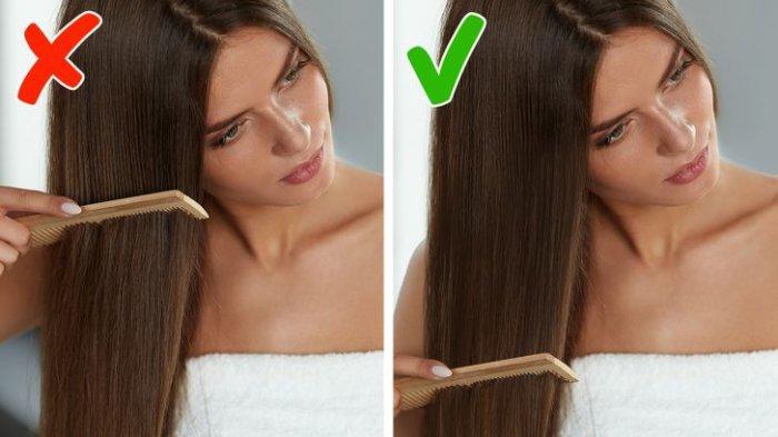 7 Kesalahan Menyisir yang Bisa Bikin Rusak Rambut, Perhatikan Arahnya hingga Waktu Terbaik Sisiran