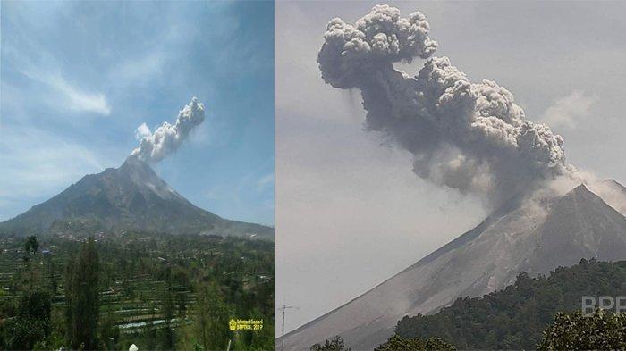 Gunung Merapi Meletus, Abu Membumbung Tinggi 1 KM, Status Tetap Waspada