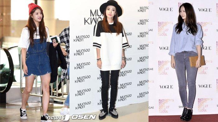 7 Fashion Casual Ala Seleb Korea Buat Kamu yang Tomboy, Mulai dari Sandara Park Hingga Krystal f(x)