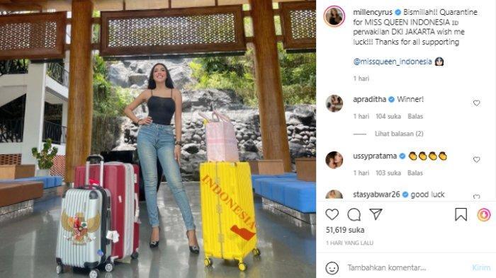 Millen Cyrus ikuti Miss Queen Indonesia