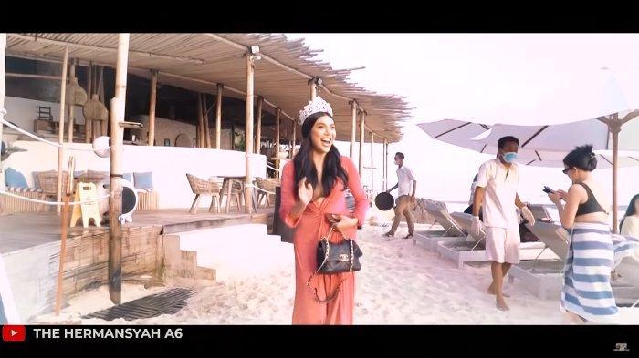 Millen Cyrus pakai mahkota Miss Queen Indonesia saat bertemu Ashanty