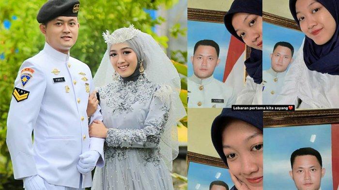 PILUNYA Istri Awak KRI Nanggala, Lebaran Pertama Sendiri, Hanya Bisa Selfie dengan Pigura Foto Suami