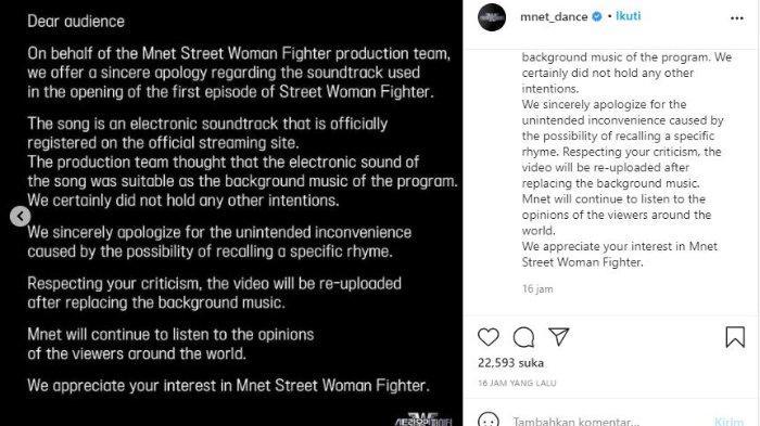 Mnet Street Woman Fighter minta maaf setelah ramai kecaman karena remix suara adzan.