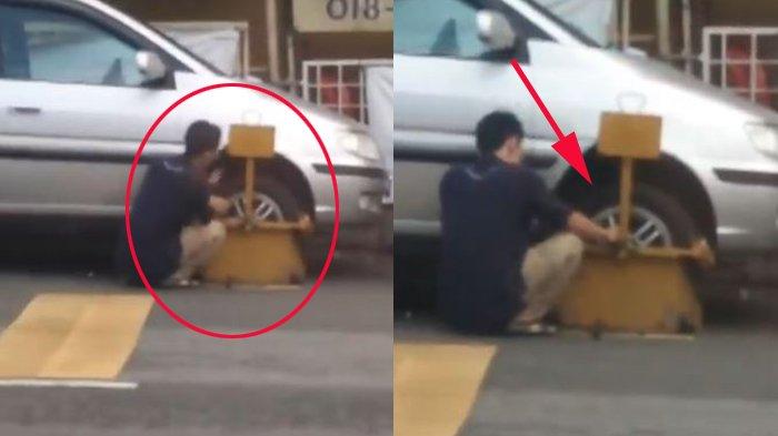 Pria Parkir dengan Asal, Mobilnya Digembok Petugas, tapi Lihat Apa yang Dilakukannya, Netizen Takjub