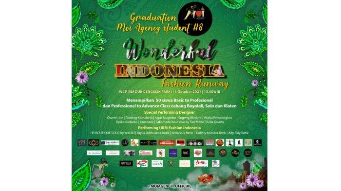 Moi Agency selenggarakan Wonderful Indonesia Fashion Runway