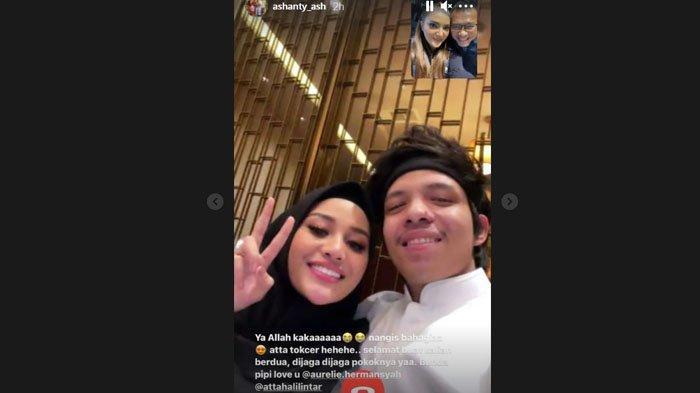 Ashanty dan Anang Hermansyah video call dengan Aurel dan Atta Halilintar usai dinyatakan hamil.