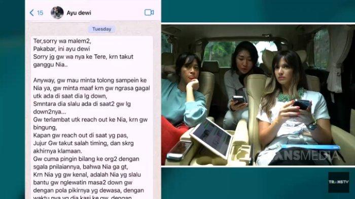 Pesan Menyentuh Ayu Dewi, Kuatkan Nia Ramadhani setelah Dihujat Nge-Host Bareng Raffi: Nia Gak Gitu