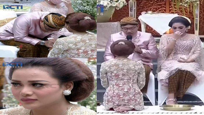 Momen haru Anang Hermansyah dan Ashanty di acara siraman Aurel Hermansyah.