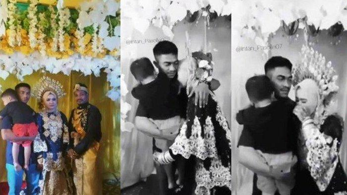 PESTA Pernikahan Berubah Tangis Haru, Mantan Suami Muncul Gendong Anak Ucapkan Selamat: Moga Bahagia