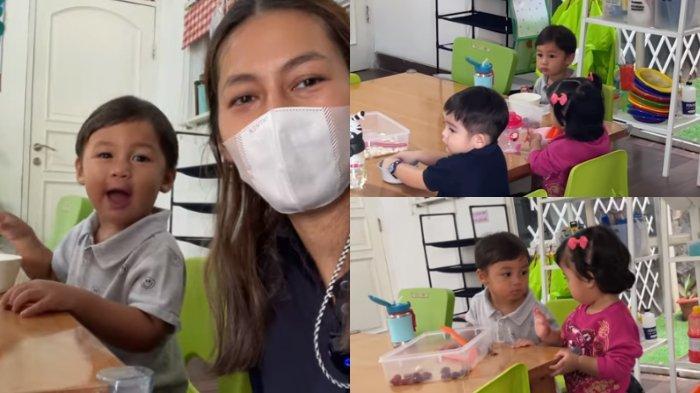 MOMEN Kiano Pertama Kali Sekolah, Putra Baim Malu-malu, Ternyata Sekelas dengan Anak Rachel Vennya