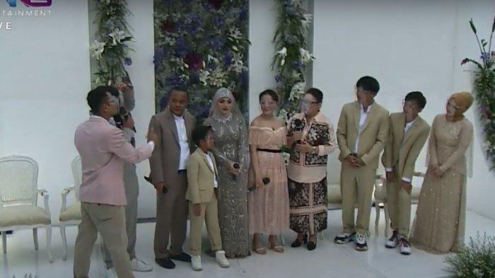 Momen pernikahan Sule dan Nathalie Holscher.