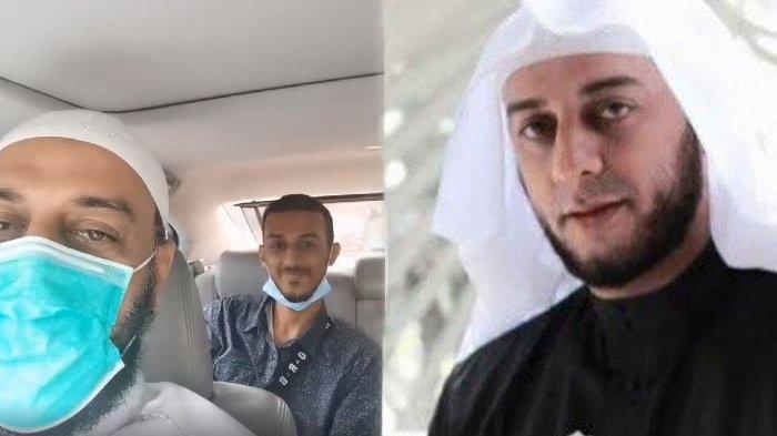Momen Syekh Ali Jaber bersama putra sulungnya, Al Hasan Ali Jaber (Kolase Tribunstyle.com, Instagram @syekh.alijaber, Ist)