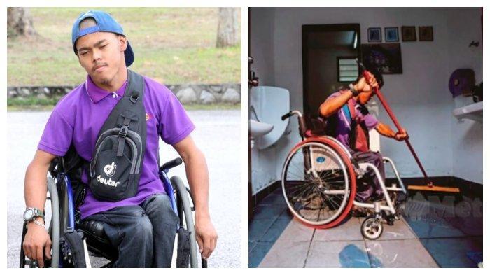 Kisah Pria Disabilitas Pembersih Toilet, Sering Dirampok & Rela Tak Makan Demi Biaya Pengobatan Ibu