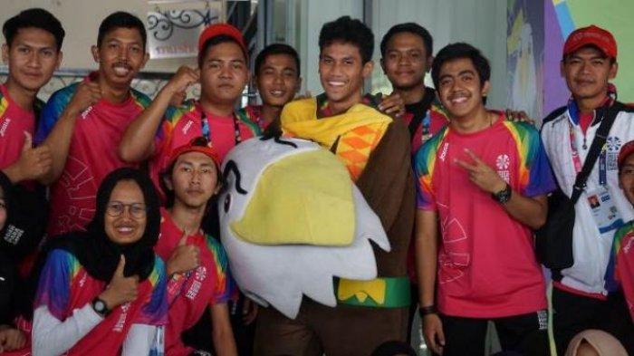 Cerita Muhammad Purnama Suherman, Sosok Pemuda di Balik Kostum Momo, Maskot Asian Para Games 2018