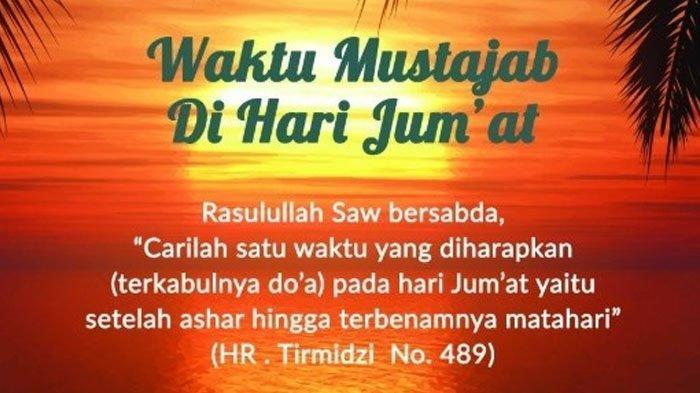 Mustajabnya Doa Setelah Ashar di Hari Jumat, Berikut 5 ...