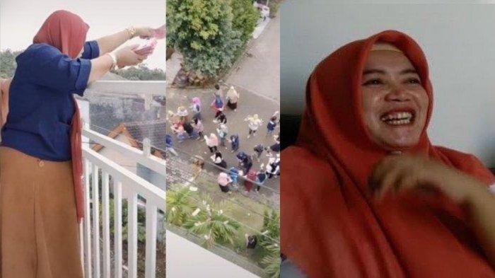 VIRAL Wanita Ini Santai Sebar Uang Rp 100 Juta dari Balkon, Terungkap Identitas dan Pekerjaannya