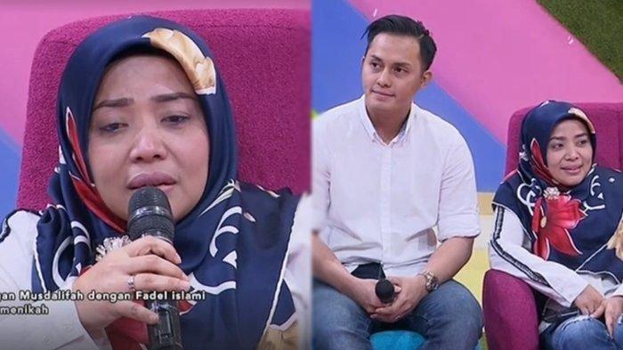 Muzdalifah Menangis Bahas pernikahan dengan Fadel Islami