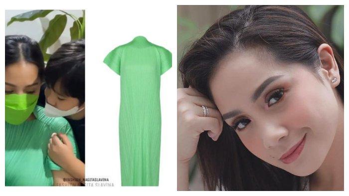 5 Fashion Nagita Slavina Selama Hamil dengan Nuansa Warna Hijau yang Bikin Adem