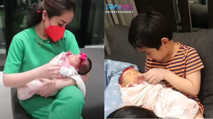 Rafathar Gemas Lihat Baby Aruni, Nagita Slavina Tanya Keinginan Sang Putra: Aa' Mau Punya Adik?