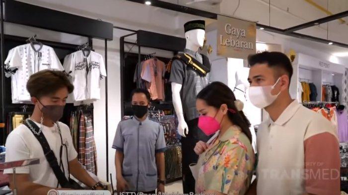 Nagita Slavina traktir petugas kebersihan belanja baju lebaran