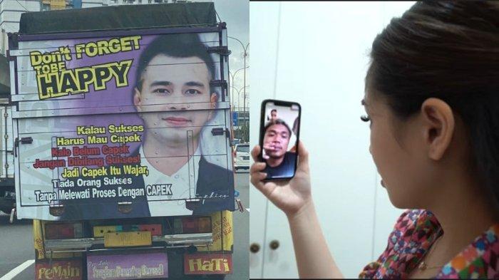 Nagita Slavina melakukan video call dengan pemilik truk bergambar Raffi Ahmad