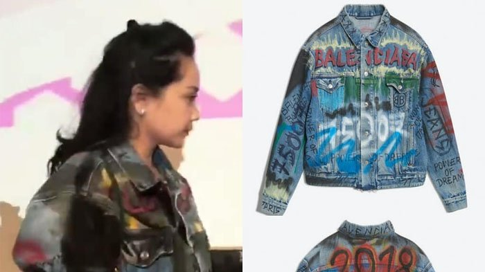 Tampak Full Coretan Pilox, Jaket Jeans yang Digunakan Nagita Slavina Ditaksir Harga Capai Rp 30 Juta