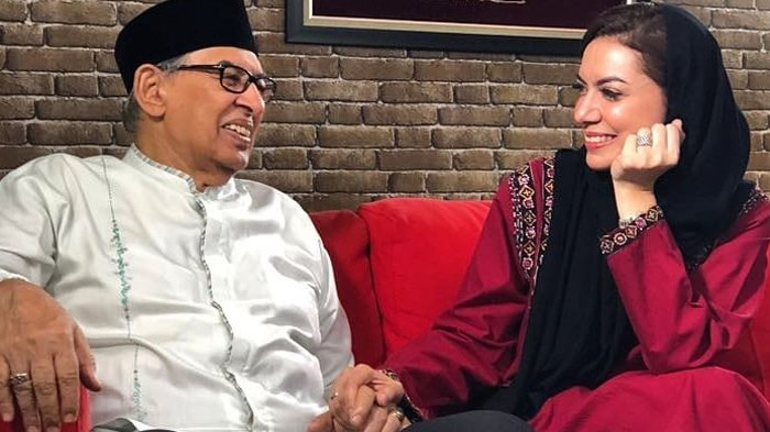 Quraish Shihab dan putrinya, Najwa Shihab.